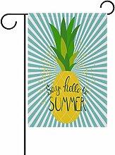 EVERUI Sommer Ananas Garten Flagge Fahne Deko für