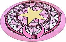 Everyday Teppiche Rutschfeste Waschbar Runde Carpet Cartoon Anime Muster Schlafzimmer Nacht Studie Computer Stuhl Badematte ( Farbe : 2 , größe : 80cmX80cm )