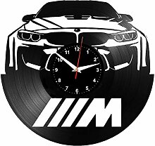 EVEVO BMW Wanduhr Vinyl Schallplatte Retro-Uhr