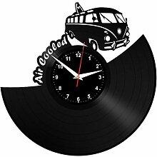EVEVO VW VOLKSVAGEN Wanduhr Vinyl Schallplatte