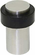 EVI herrajes i-158/50–Türstopper, Finish matt Inox (Edelstahl) schwarz Gummi