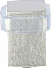 EVI herrajes i-166-b–Türstopper, Finish matt Inox (Edelstahl) transparent Gummi