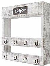 Evibooin Kaffee-Regal, zur Wandmontage,