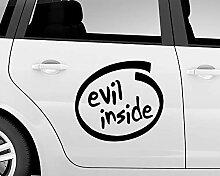 """Evil Inside"" Auto-Aufkleber, böses"