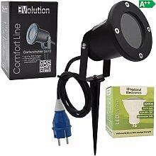 Evolution LED Strahler 3,5W mit Erdspieß, Kabel