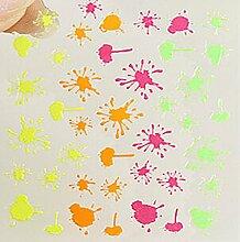 EVTECH (TM) 5 PCS-Nagel-Aufkleber-Nagel-Kunst-Werkzeug 3D Sticker Craved Schöne Nail Sticker Tatoo - Bunte Graffiti