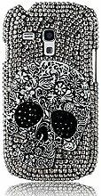 EVTECH(TM) Kristall Strasssteine Diamant Perle Blume Neu 3D DIY Handmade Bling Shining Glitter Transparent Protektiv Tasche Schutz Schale Harte Back Case Hülle Schutzhülle für Samsung Galaxy S3 Mini 8190(Not For SAMSUNG S3)
