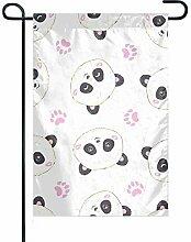 EW-OL Garten Flagge dekorative Polyester Pink mit