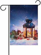 EW-OL Weihnachtsdekoration Schnee magische Laterne
