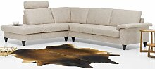 Ewald Schillig Ecksofa ConceptPlus Espéria, bestehend aus Sofa 2sitzig -large- + Anbausofa mit festem Hocker -large-,inklusiver einer losen Kopfstütze, Bezug, Sitz- und Rückenausführung wählbar