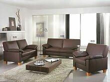 Ewald Schillig Florenz Sofa 3-teilig Sofagarnitur 3 Sitzer + Sofa 2 Sitzer + Sessel Armlehnen für Wohnzimmer in Stoff oder Leder wählbar