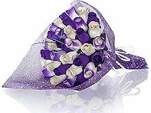 Ewige Holzrosen   Blumenstrauß violett   schönes