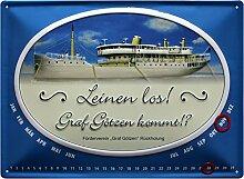Ewiger Kalender Schiff Graf Götzen geprägt
