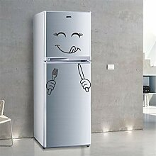 EWQHD Lustige Smiley Kühlschrank Aufkleber