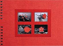 Exacompta 16241E Passion Foto-Spiralalbum, rot, 32