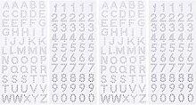 EXCEART 4 Blatt Glitzer Zahlen Alphabet Aufkleber