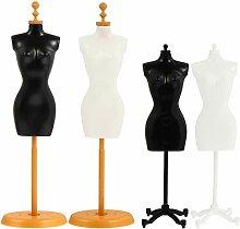 EXCEART 4 Stück Mini Puppe Kleid Stützkleid