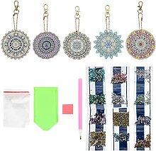 EXCEART Diamant Zeichnung Keychain Kit Mandala