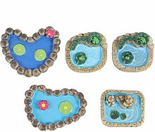 EXCEART Miniatur Teich Feengarten Gartenteich Mini