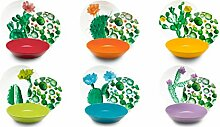 Excelsa Color Cactus Tafelservice, 18-teilig,