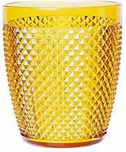 Excelsa Diamond Trinkglas, Kunststoff, Gelb
