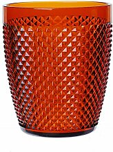 Excelsa Diamond Trinkglas, Kunststoff, Orange