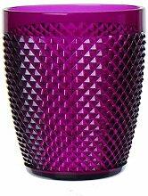 Excelsa Diamond Trinkglas, Kunststoff, Viole