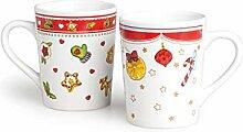 Excelsa Festivity Set aus 2 Tassen aus Porzellan