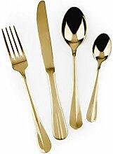 Excelsa Gold Besteck-Set, Stahl, goldfarben,