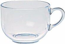 Excelsa Grauer Jumbo Tasse, Glas, transparent, 70cl