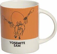 Excelsa Looney Tunes Mug Yosemite Sam 300ml, Porzellan, Orange dunkel, 8.9x 8.9x 9cm