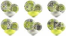 Excelsa Maiolica Green Tafelservice 18-teilig,