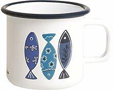 Excelsa Ocean Mug, Eisen Emaille, Weiß