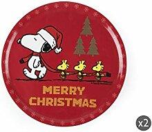 Excelsa Peanuts Christmas Set 2 Servierteller,