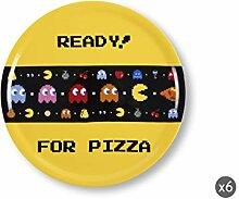 Excelsa Pizza Pizza Pizza Pacman, Porzellan, Gelb,