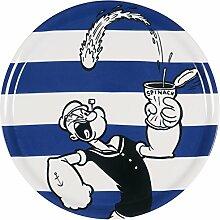 Excelsa Popeye Pizzateller, Porzellan, Blau