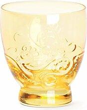 Excelsa Santa Cruz Becher CL 30, Glas, gelb, 8.5x 8.5x 9.5cm