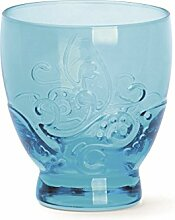 Excelsa Santa Cruz Packung 2Becher 30cl, Glas, Hellblau, 8.5x 8.5x 9.5cm