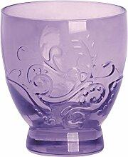 Excelsa Santa Cruz Packung 2Becher 30cl, Glas, Violett, 8.5x 8.5x 9.5cm