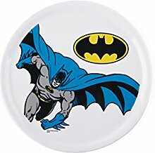 Excelsa Teller Pizza Batman Bianco