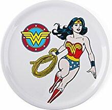 Excelsa Teller Pizza Wonder Woman Bianco