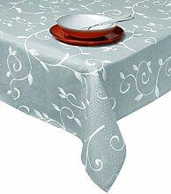 Excelsa Tischdecke aus Stoff, silber, 140 x 180 cm