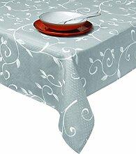 Excelsa Tischdecke aus Stoff, silber, 140 x 240 cm