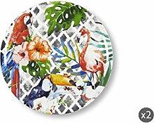 Excelsa Tropical Set aus 2 Pizzatellern, Porzellan