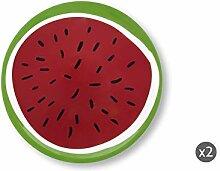 Excelsa Watermelon Set aus 2 Pizzatellern,
