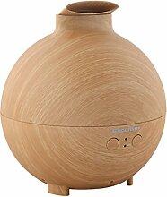 Excelvan 500ml Aromatherapie Diffuser LED Aroma Luftbefeuchter Ultraschall Duftzerstäuber Humidifier Woodgrain Holzmaserung mit Essential Oil