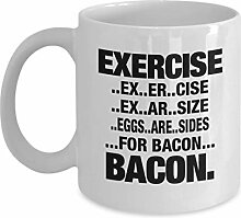 Excercise.Eggs.Are.Sides.For Bacon Coffee Mug,