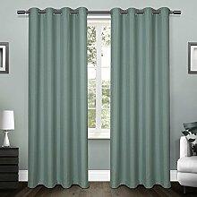 "Exclusive Home Curtains loha Leinen Spitze Tülle Fenster Vorhang-Paar, Polyester, blaugrün, 108"" Length"