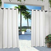 Exclusive Home Vorhänge eh7999–012-– 84g Solid Cabana Tülle Top Fenster Vorhang Panel, weiß, 54x 84Zoll), 2Stück