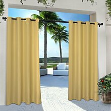 Exclusive Home Vorhänge eh8000–04 2 – Solid Cabana Tülle Top-96 g Fenster Vorhang Panel, Sundress, 54 x Beton, Set von 2